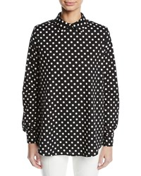 Paskal Polka Dot Collared Long Sleeve Cotton Shirt Multi Pattern