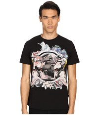 Just Cavalli Pin Up Girl Graphic Short Sleeve Tee Black Men's T Shirt