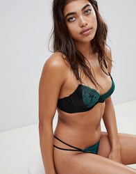 Ann Summers Singapore Sling Plunge Bra Green