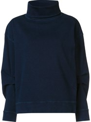 Ag Jeans Boxy Roll Neck Sweater Blue