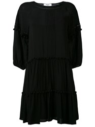 Blugirl Flared Dress Women Polyester 46 Black