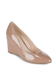 Nine West Jessa Patent Wedge Natural