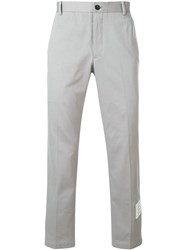 Thom Browne Cotton Twill Unconstructed Chino Trouser Grey