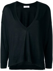 Brunello Cucinelli Loose Fit V Neck Jumper Black
