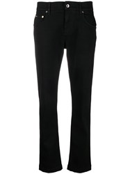 Dolce And Gabbana Low Rise Slim Jeans Black