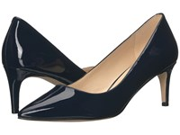 Nine West Smith Navy Patent Women's Shoes Blue