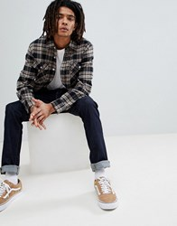 Brixton Checked Bowery Shirt In Standard Fit Black