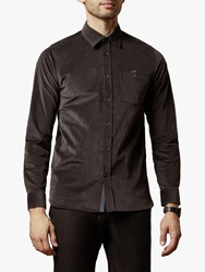 Ted Baker Corddie Corduroy Shirt Charcoal