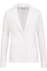 Bailey 44 Paneled Stretch Jersey Blazer White
