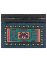 Etro Printed Card Holder Black