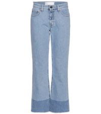 Victoria Beckham Wide Leg Cropped Jeans Blue
