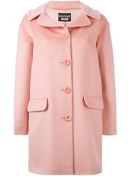 Boutique Moschino Buttoned Short Coat Pink And Purple