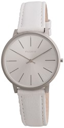 Pilgrim Simple Silver Plated And White Watch White