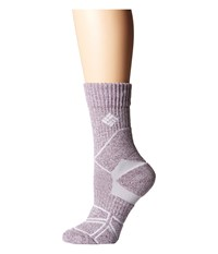 Columbia Hiking Medium Weight Crew Punch Pink Crew Cut Socks Shoes Red