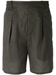 Christophe Lemaire Printed Chino Shorts Men Cotton 48 Green