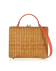 Rodo Handbags Flat Leather And Wicker Midollina Tote Bag