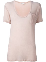 Iro Scoop Neck T Shirt Pink And Purple