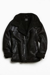 Urban Outfitters Uo Faux Shearling B 3 Bomber Jacket Black