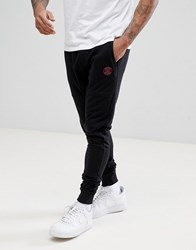 Blend Of America Slim Logo Joggers In Black