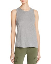 Vince Cotton And Silk Twist Back Tank Grey