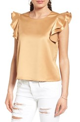 Soprano Women's Ruffle Sleeve Satin Blouse