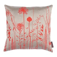 Clarissa Hulse Seed Heads Cushion 45X45cm Pebble Vermillion