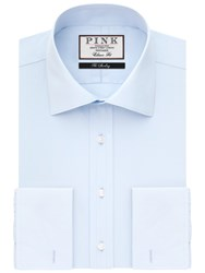 Thomas Pink Frederick Plain Classic Fit Double Cuff Shirt Pale Blue