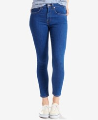 Levi's 721 Orange Tab High Rise Skinny Ankle Jeans Select For Macy's Sea Of Blue
