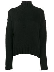 Dondup Roll Neck Fitted Sweater Black