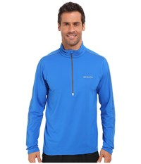 Columbia Trail Flash Half Zip Super Blue Men's Long Sleeve Pullover