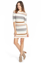 Element Stripe Knit Dress Natural