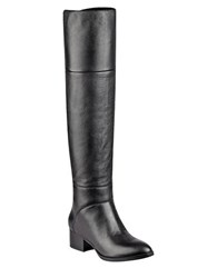 Tommy Hilfiger Gianna Suede Over The Knee Boots Black