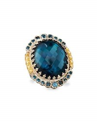 Konstantino Thalassa Oval Blue Topaz Cocktail Ring
