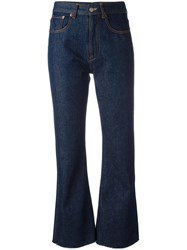 Maison Martin Margiela Mm6 Flared Cropped Jeans Blue