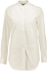 Mcq By Alexander Mcqueen Pintucked Cotton Shirt White