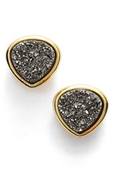 Sonya Renee Drusy Stud Earrings Metallic
