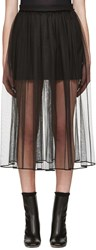 Givenchy Black Tulle Layered Skirt