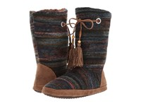 Mandf Western Ava Brown Blue Multi Boots
