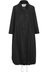 Prada Satin Trimmed Silk Taffeta Coat Black