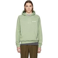Sunnei Green Classic Fit Hoodie