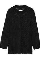 Maison Martin Margiela Oversized Alpaca Blend Sweater Black