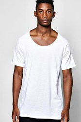 Boohoo Scoop Neck Raglan T Shirt White