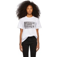 Ashley Williams White 'Retired And Loving It' T Shirt