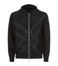 Burberry Twill Check Hoodie Male Black
