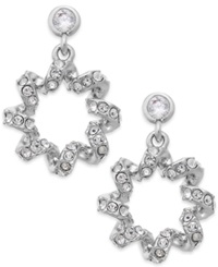 Eliot Danori Silver Tone Crystal Swirl Stud Earrings