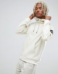 The North Face Fine 2 Full Zip Hoodie In Vintage White