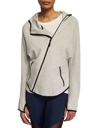 Onzie Dolman Sleeve Asymmetric Zip Sport Jacket Heather Gray