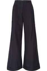 Jacquemus Wool Wide Leg Pants Midnight Blue