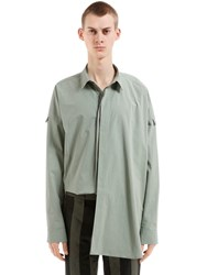 Damir Doma Oversize Cotton Poplin Shirt Washed Green