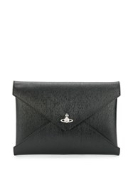 Vivienne Westwood Logo Clutch Bag Black